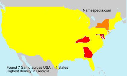 Familiennamen Samd - USA
