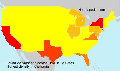 Familiennamen Sameena - USA