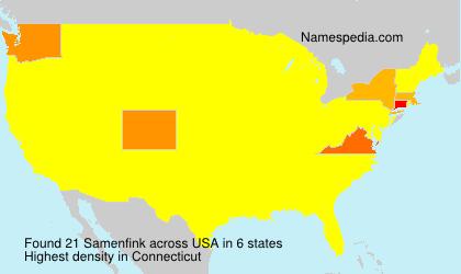 Surname Samenfink in USA