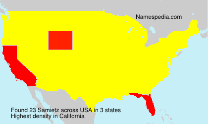Surname Samietz in USA