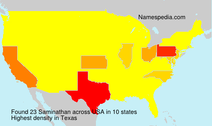 Surname Saminathan in USA