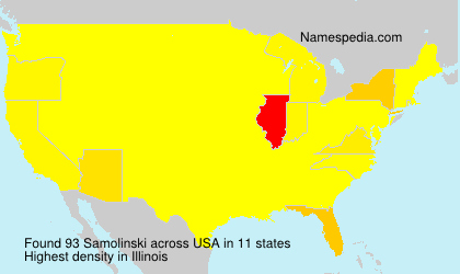 Surname Samolinski in USA
