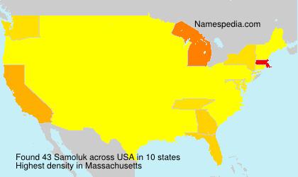 Surname Samoluk in USA
