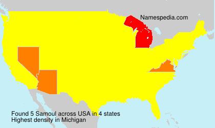 Surname Samoul in USA