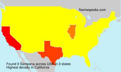 Surname Sampana in USA