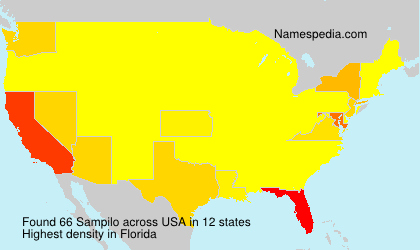 Surname Sampilo in USA