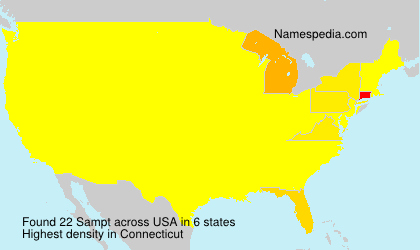 Familiennamen Sampt - USA