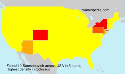 Surname Samsonovich in USA