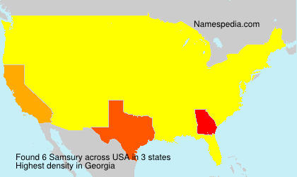 Surname Samsury in USA