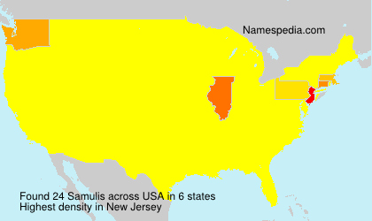 Surname Samulis in USA