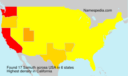 Surname Samuth in USA