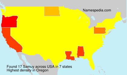 Surname Samuy in USA