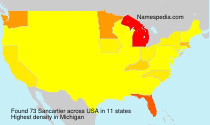 Surname Sancartier in USA