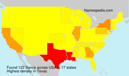 Surname Sance in USA