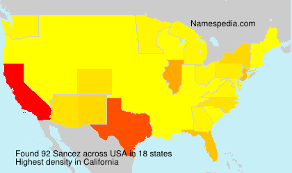 Surname Sancez in USA
