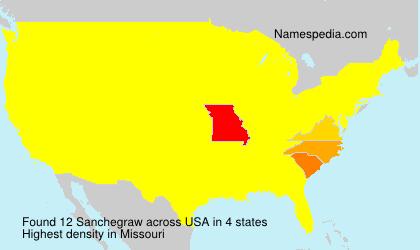 Surname Sanchegraw in USA