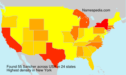 Surname Sancher in USA