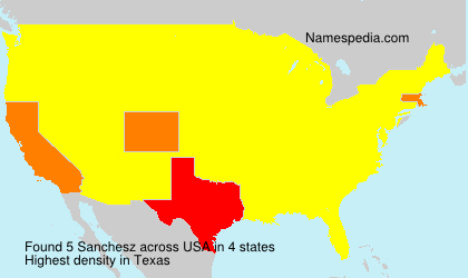 Surname Sanchesz in USA