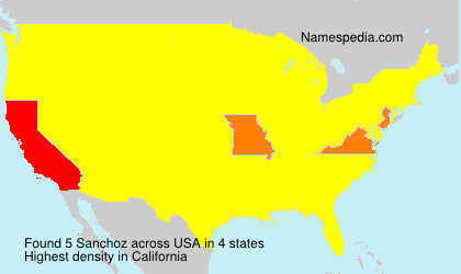 Surname Sanchoz in USA