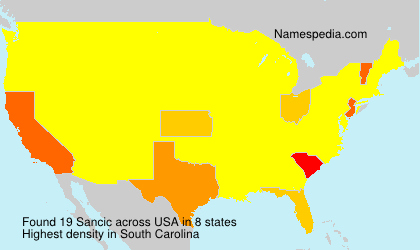 Surname Sancic in USA
