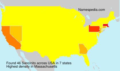 Surname Sancinito in USA