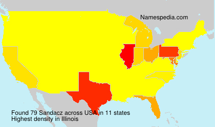 Surname Sandacz in USA