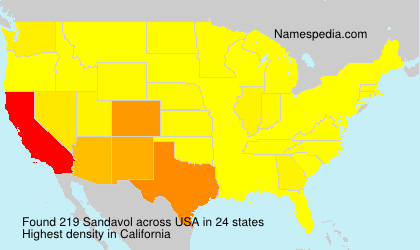 Surname Sandavol in USA
