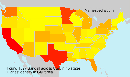 Surname Sandell in USA