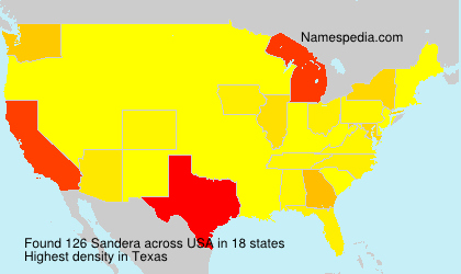Surname Sandera in USA