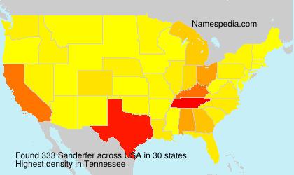 Surname Sanderfer in USA