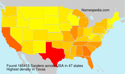 Surname Sanders in USA