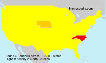Familiennamen Sandhills - USA