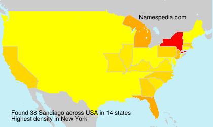 Surname Sandiago in USA