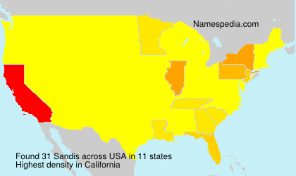 Surname Sandis in USA