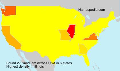 Surname Sandkam in USA