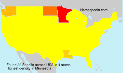 Surname Sandlie in USA