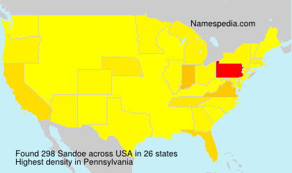 Surname Sandoe in USA
