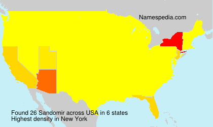 Surname Sandomir in USA