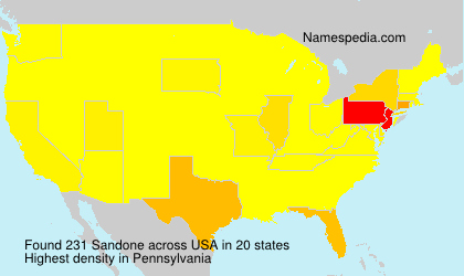 Surname Sandone in USA