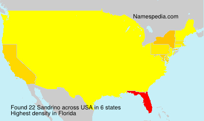 Surname Sandrino in USA