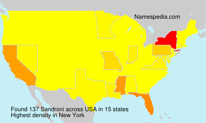 Surname Sandroni in USA