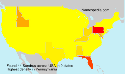 Familiennamen Sandrus - USA