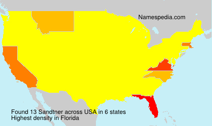 Surname Sandtner in USA