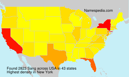 Surname Sang in USA