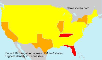 Familiennamen Sangabino - USA