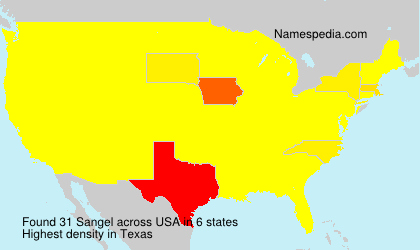 Surname Sangel in USA