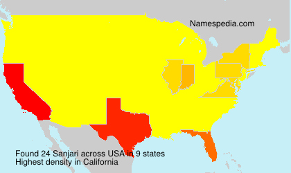 Surname Sanjari in USA