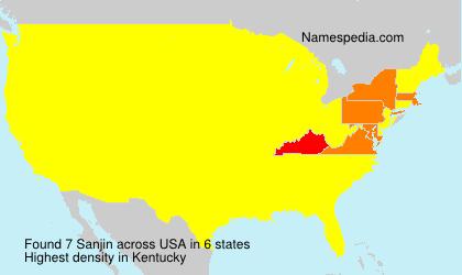 Familiennamen Sanjin - USA