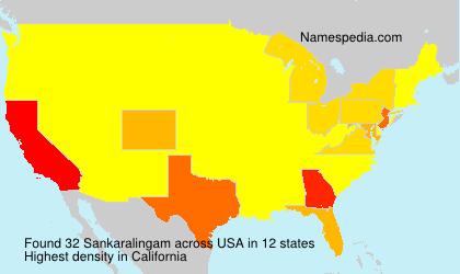 Surname Sankaralingam in USA
