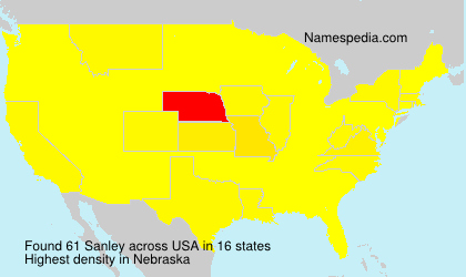 Surname Sanley in USA